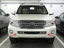 Решетка в бампер d-16 Toyota Land Cruiser 200 2013-2015