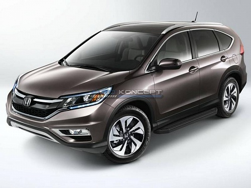 "RIVAL Порог-площадка ""Black"", Honda CR-V 2012-2015 Россия и СНГ"