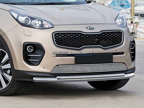 RIVAL Решетка бампера d10, Kia Sportage 2015- Россия и СНГ