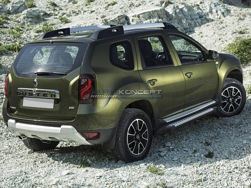"RIVAL Порог-площадка ""Bmw-Style"", Renault Duster  2011-2015- Россия и СНГ"